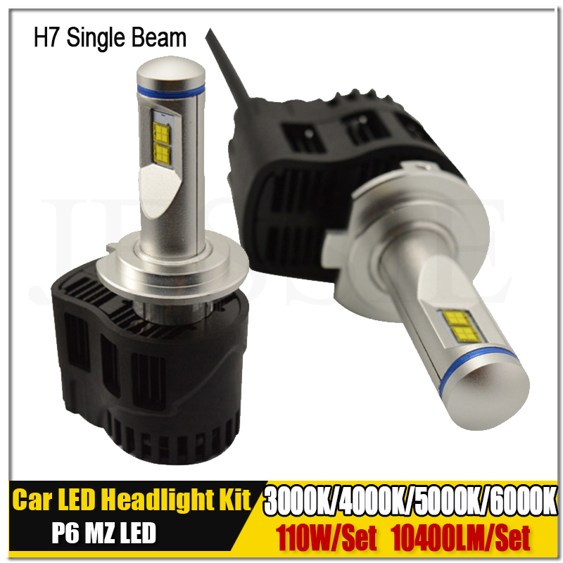 Pair 110W 10400LM P6 MZ H7 Canbus Car LED Headlight Kit Auto Truck Fog Head Light Bulb 6000K 5000k 4000k 3000K 12V 24V 30V h7 high quality 110w 10400lm led headlight h7 p6 car led headlight h7 6000k 360 degree beam led headlamp light bulb h7 5000k led
