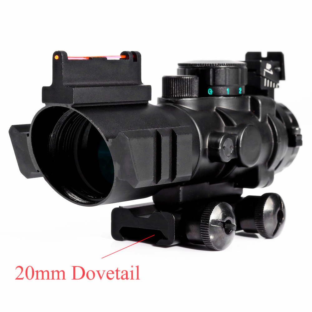 Spike 4x32 Riflescope 20mm Dovetail Reflex Optics Scope Tactical Sight For Hunting Gun R ...