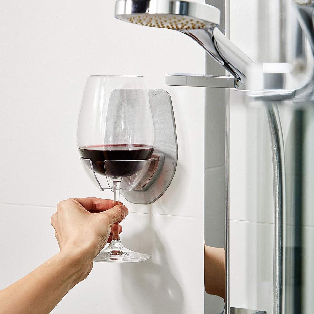 Wall Mounted Red Wine Glass Holder Watt Plastic Drinking