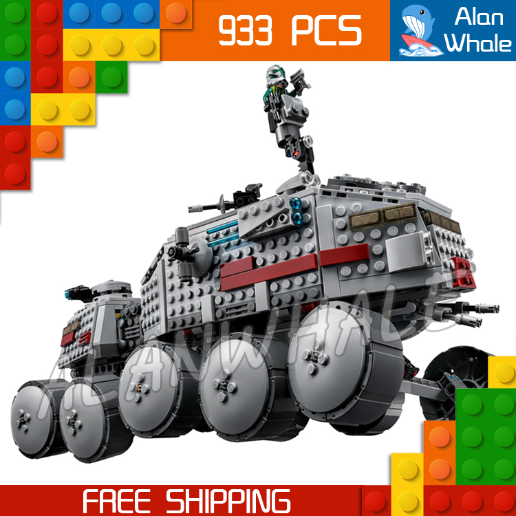 933pcs Space Wars New 05031 Clone Turbo Tank AT-RT Model Building Blocks Toys Children Bricks Compatible with Lego yn e3 rt ttl radio trigger speedlite transmitter as st e3 rt for canon 600ex rt new arrival