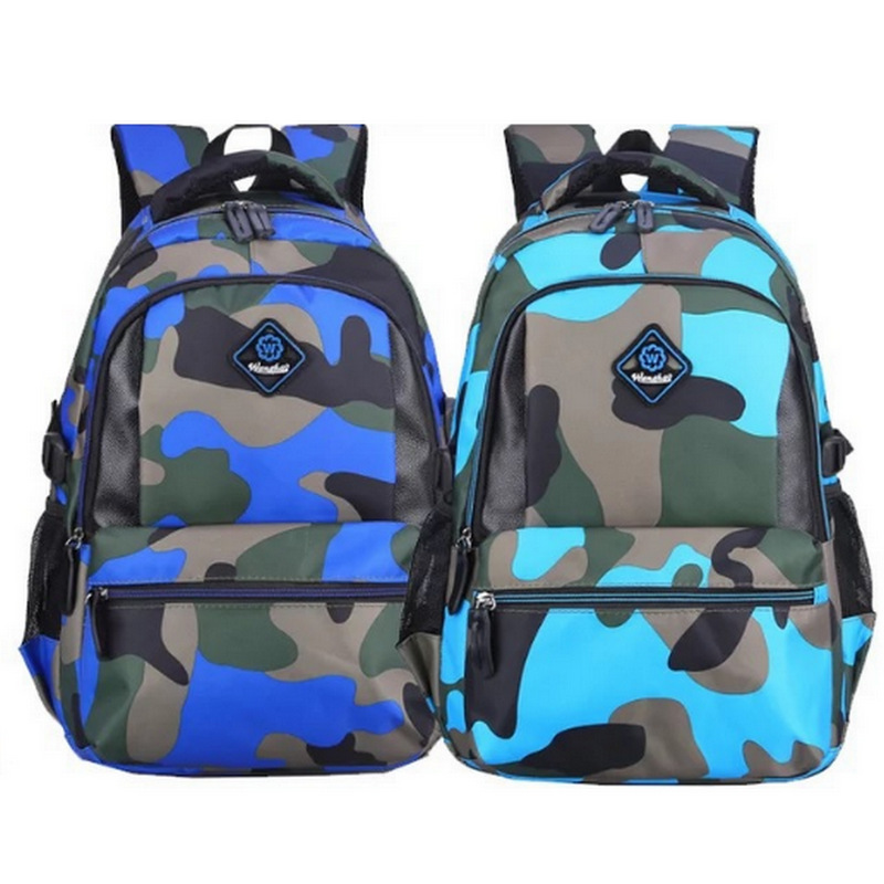2018 Водонепроницаемый детей школьные сумки для девочек и мальчиков детские ортопедические камуфляж Школьный Рюкзак Дети ранцы Mochila Escolar