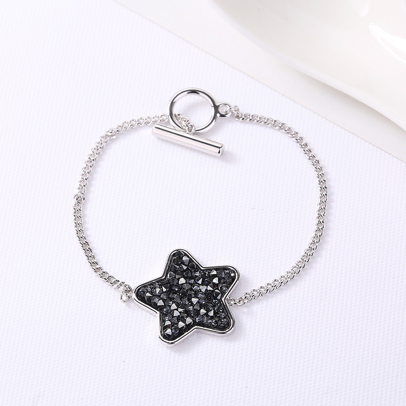 Ms betti 2018 cute star fancy drusy stone bracelet for women Crystals from Swarovski best gifts for mother's Day just for you fancy nancy pajama day level 1