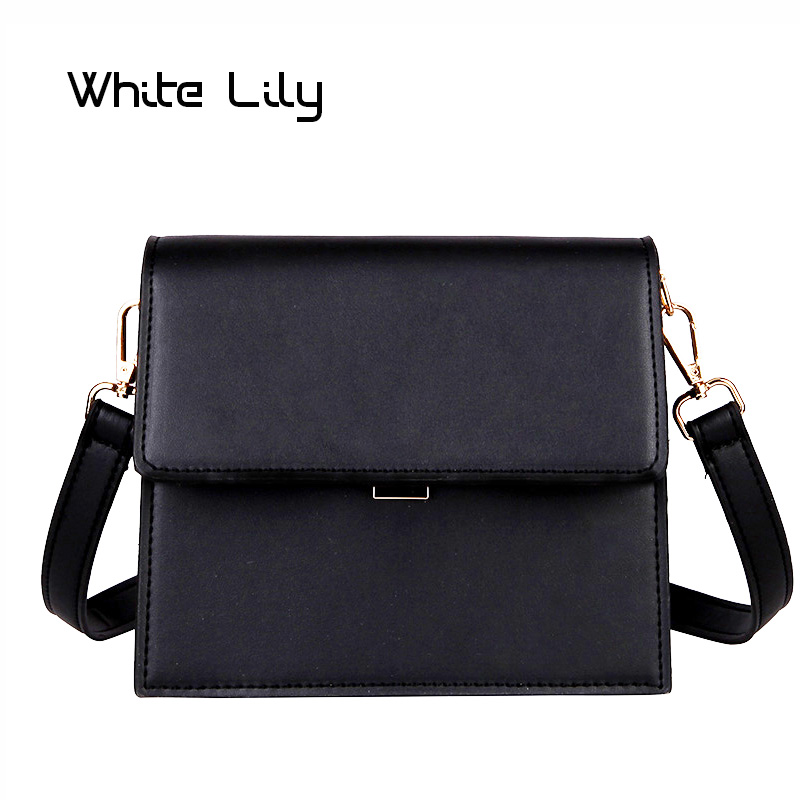 New Women's Solid Hasp Shoulder Bag Messenger Bag Briefcase Package Ladies Small Envelope Bag Crossbody Bag