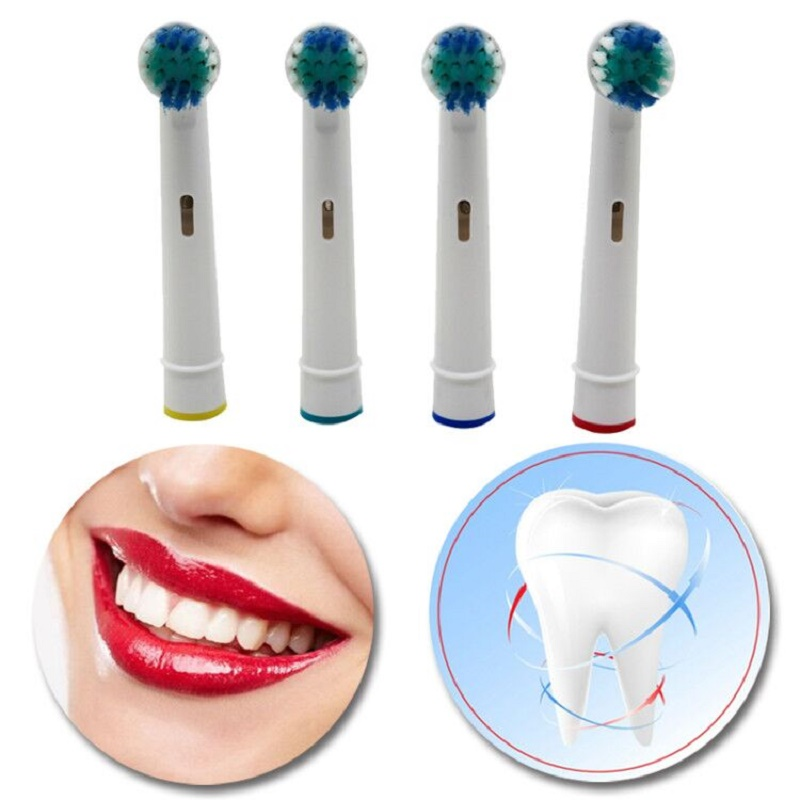 Tsmile 4pcs/Set Electric Toothbrush Heads SB-17A Replacement Soft-bristled POM 4 Colors For Oral B 3D