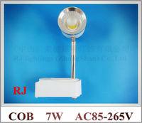 エピスターチップledレールスポットランプ光追跡ライトスポットライトエンターテイメント照明7ワットac85-265v新しい技術最高価
