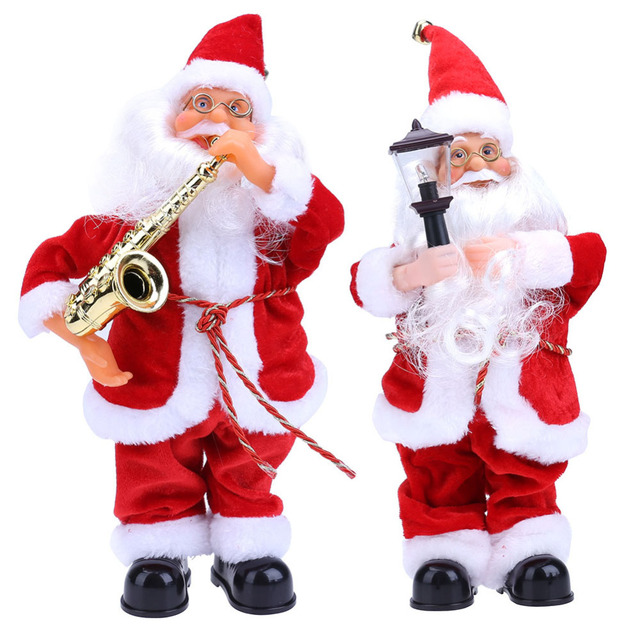 Christmas Decorations for Home Dancing Singing Santa Claus Electric Christmas Toys Christmas Ornament Party Decor
