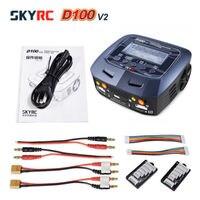 100% оригинальный небо RC SKYRC D100 V2C 2X100 Вт двойной баланс Липо Батарея Зарядное устройство Dis Зарядное устройство + AU /EU/UK/US разъем питания