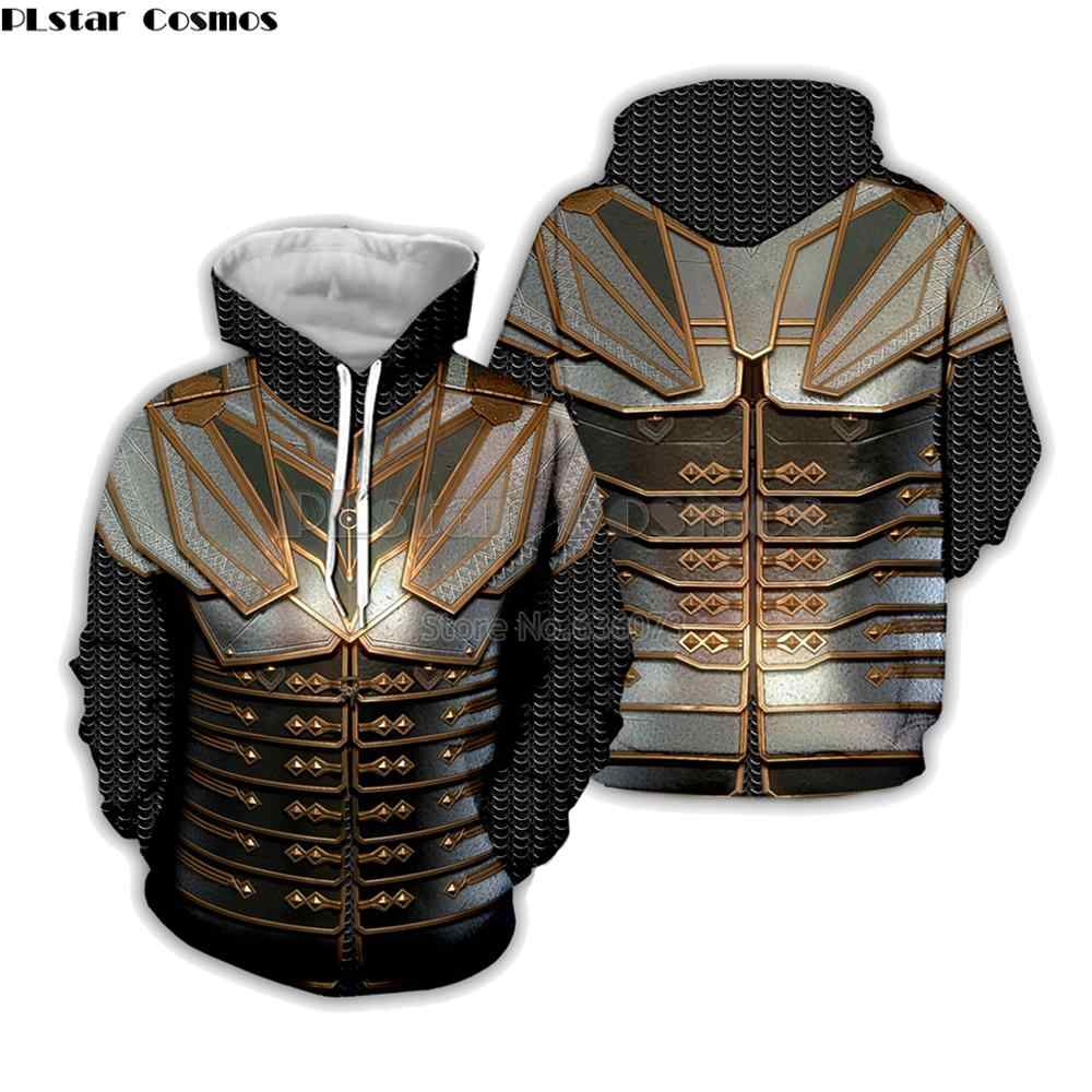 Plstar cosmos moda męska bluzy gra o tron charakter zbroja 3D drukuj Unisex bluza z kapturem streetwear Cosplay sudadera hombre