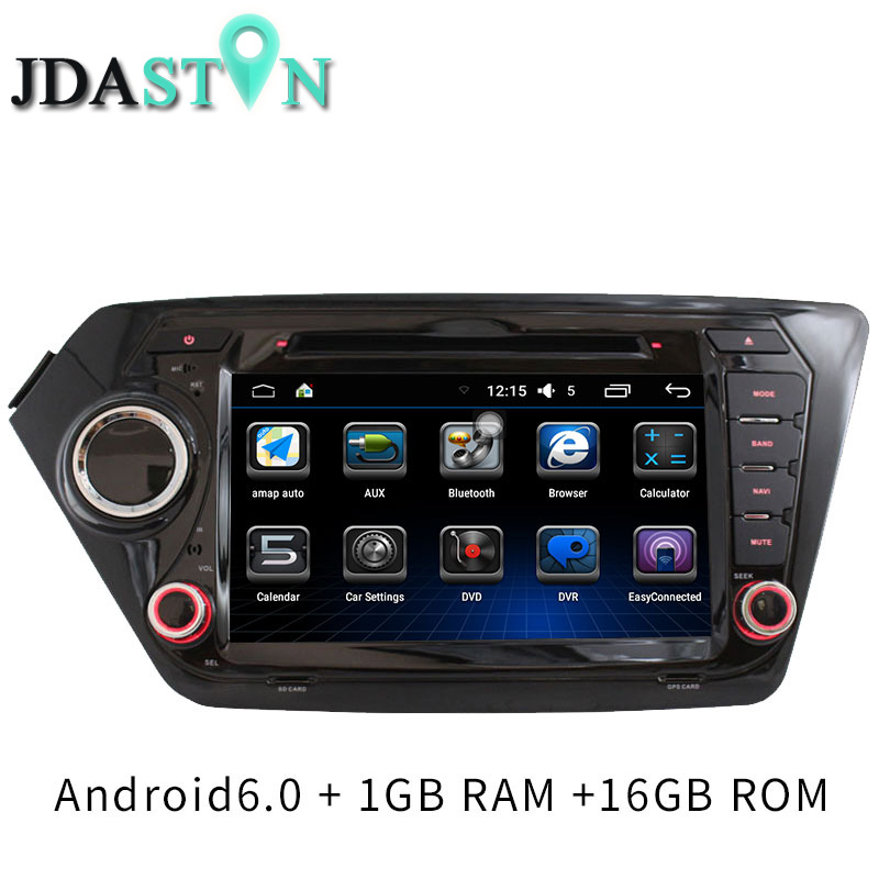 JDASTON 2 Din Android 6.0 Car DVD Player For Kia k2 RIO 2010 2011 2012 2013-2015 Car Multimedia Video Audio GPS Navigation Radio for ford focus 3 2012 2013 2014 2015 car android unit 1 din dvd radio stereo audio multimedia video music player gps navigation