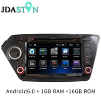 JDASTON 2 Din Android 6.0 Car DVD Player For Kia k2 RIO 2010 2011 2012 2013 2015 Car Multimedia Video Audio GPS Navigation Radio