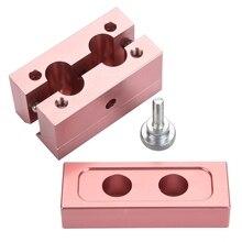 Bricolage de remplissage de Rouge à lèvres en alliage daluminium durable, or Rose, 1 ensemble, avec 2/4 trous, double usage, baume Rouge à lèvres