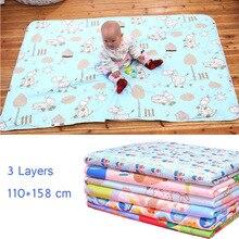 4 размера Детские водонепроницаемые простыни, пеленальные подушечки для мочи, Мультяшные Многоразовые детские постельные принадлежности, пеленальный матрас, пеленальный коврик