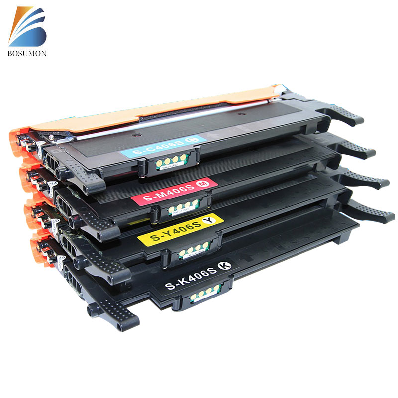 ФОТО For Samsung CLT-K406S C406S M406S Y406S 406S  406 Toner Cartridges CLP-365W CLX-3305FW Xpress C410W C460FW