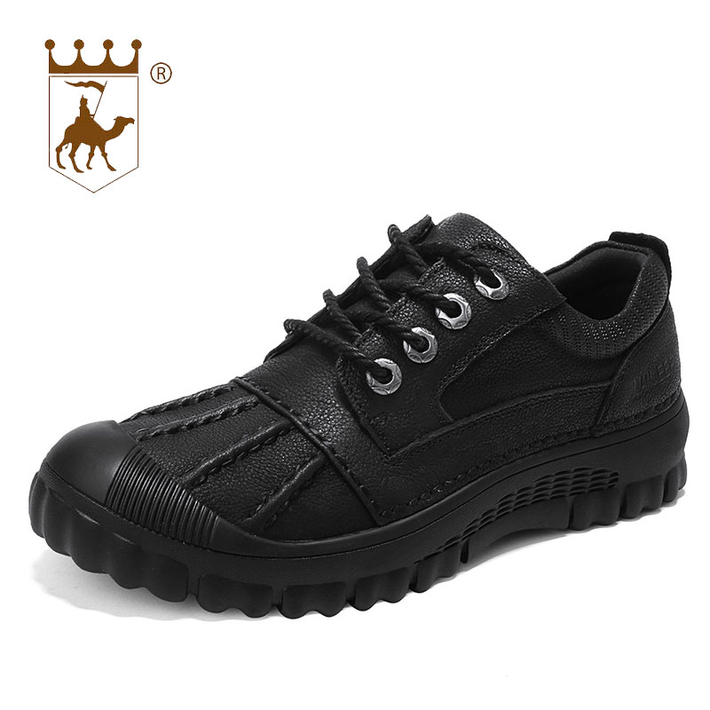 BACKCAMEL 2018 Autumn Winter Leather Mens Boots Casual Ankle Shoes Wear-resistant  Non-slip f8a84326c9f1