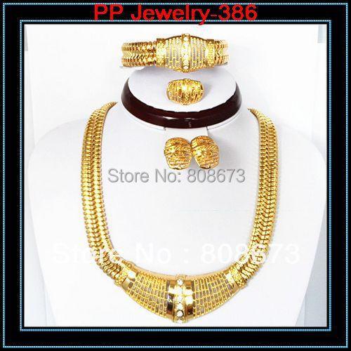 100% de la Buena Calidad de Diseño de Lujo Grande de La Manera Africana de La Joyería del Oro 18KGP Guaratee
