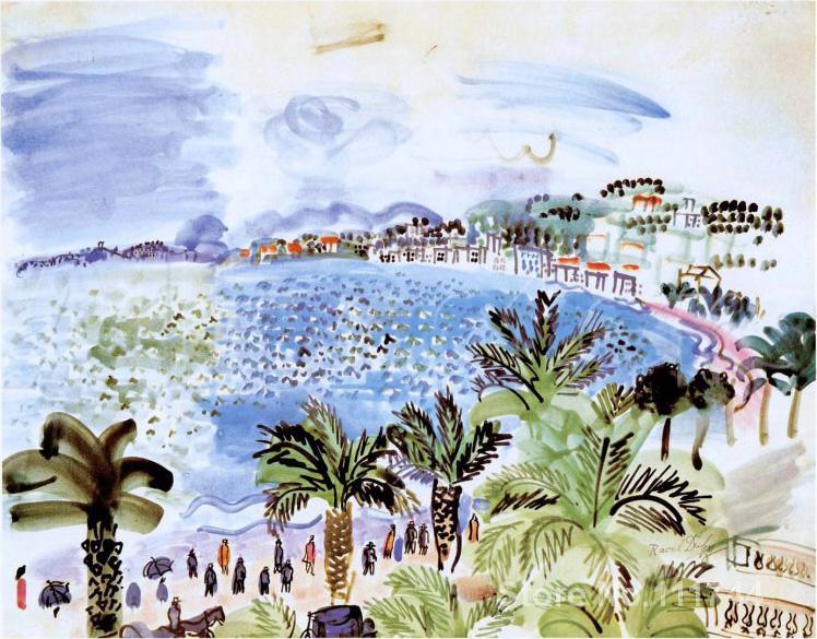 colors painting La Promenade des Anglais by Raoul Dufy Landscape art Hand painted High quality