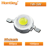Hontiey Wholesale 500pcs 1000pcs High Power LED Watt 1W 3W 5W White Blue Green Yellow Red Growth light Full spectrum Bulbs