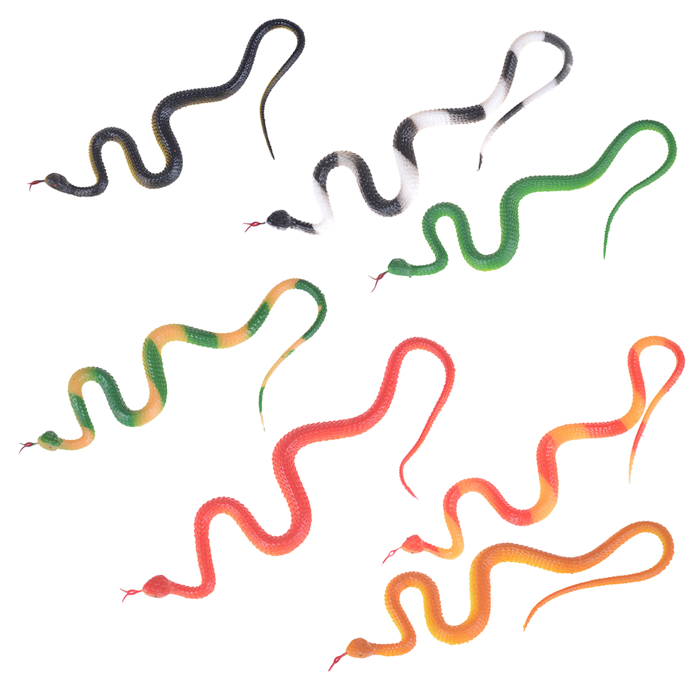 Simulation Rubber Snake Fake Artificial Rubber Faux Snake Model Toy Snake Fake Animal Gift Halloween Costume Party Supplies