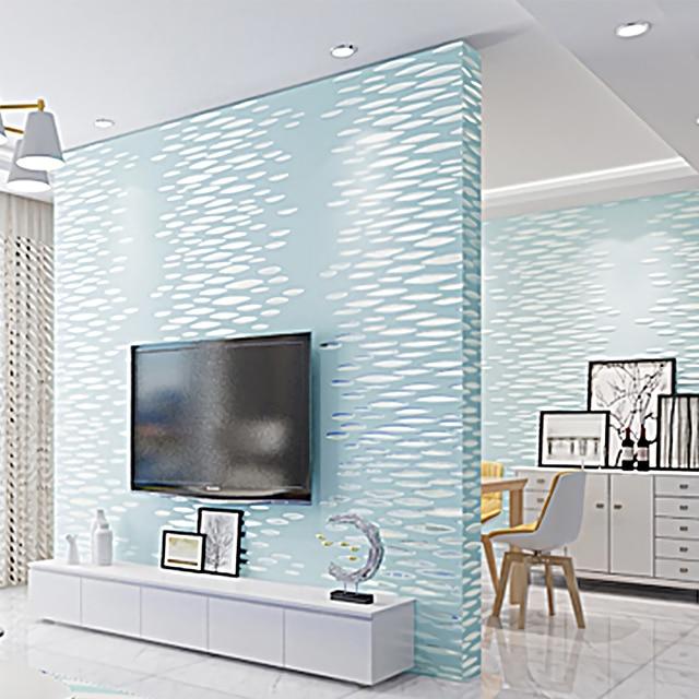 Vlies Moderne Luxus Muster Creation 3d Effekt Tapete Beflockung