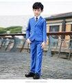Высокое Качество 2017 элегантный Благородный Нагрудные Малыш Смокинги мальчика Камвольно Цвет изображения Регулярные Специальные свадебные Мальчиков Наряд XY015