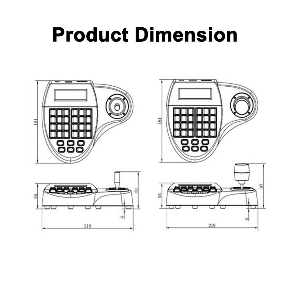 cctv ptz camera 3d joystick keyboard controller pelcop pelcod rs485 control for ahd tvi cvi sdi [ 1000 x 1000 Pixel ]