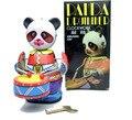 Rara colección Nostalgia Estaño terminan juguetes Panda tambores Juguetes