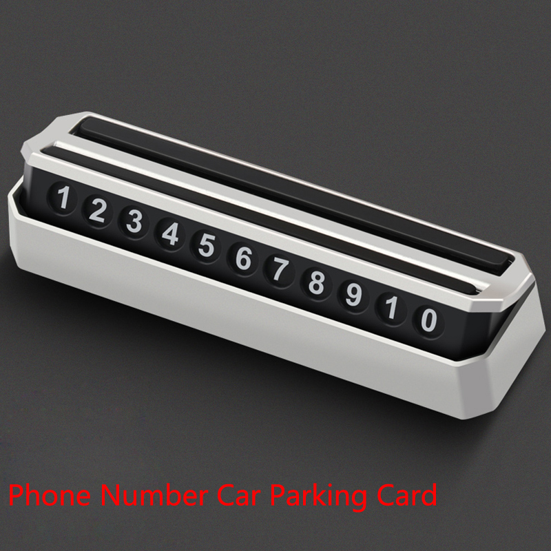 Car Temporary Parking Card Phone Number Card Automobile