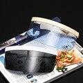 Женская пластиковая шляпа от солнца  шляпа с широкополыми полями  объектив устойчивый к УФ  Повседневная летняя пустая пластиковая Солнцез...