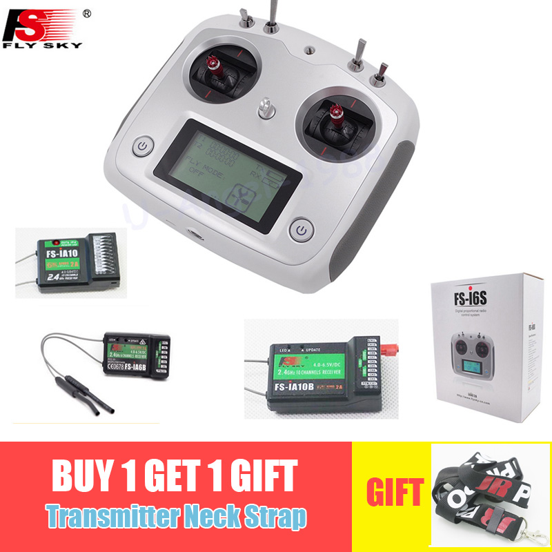 Flysky FS-i6S Remote Controller 10CH 2.4G With FS-iA6B FS-iA10B Receiver For RC Airplane Quadcopter Multirotor Drone