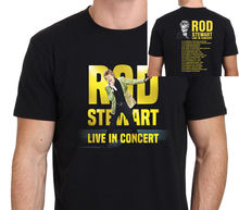 цена на Rod Stewart Live In Concert 2018 T-Shirt Men's Black : S-3XL Sleeve T Shirt Homme Shirts Summer Short Sleeve Novelty