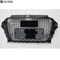 High Quality A3 RS3 Style ABS Front Honeycomb Grille Black Frame Black Mesh Grill For Audi