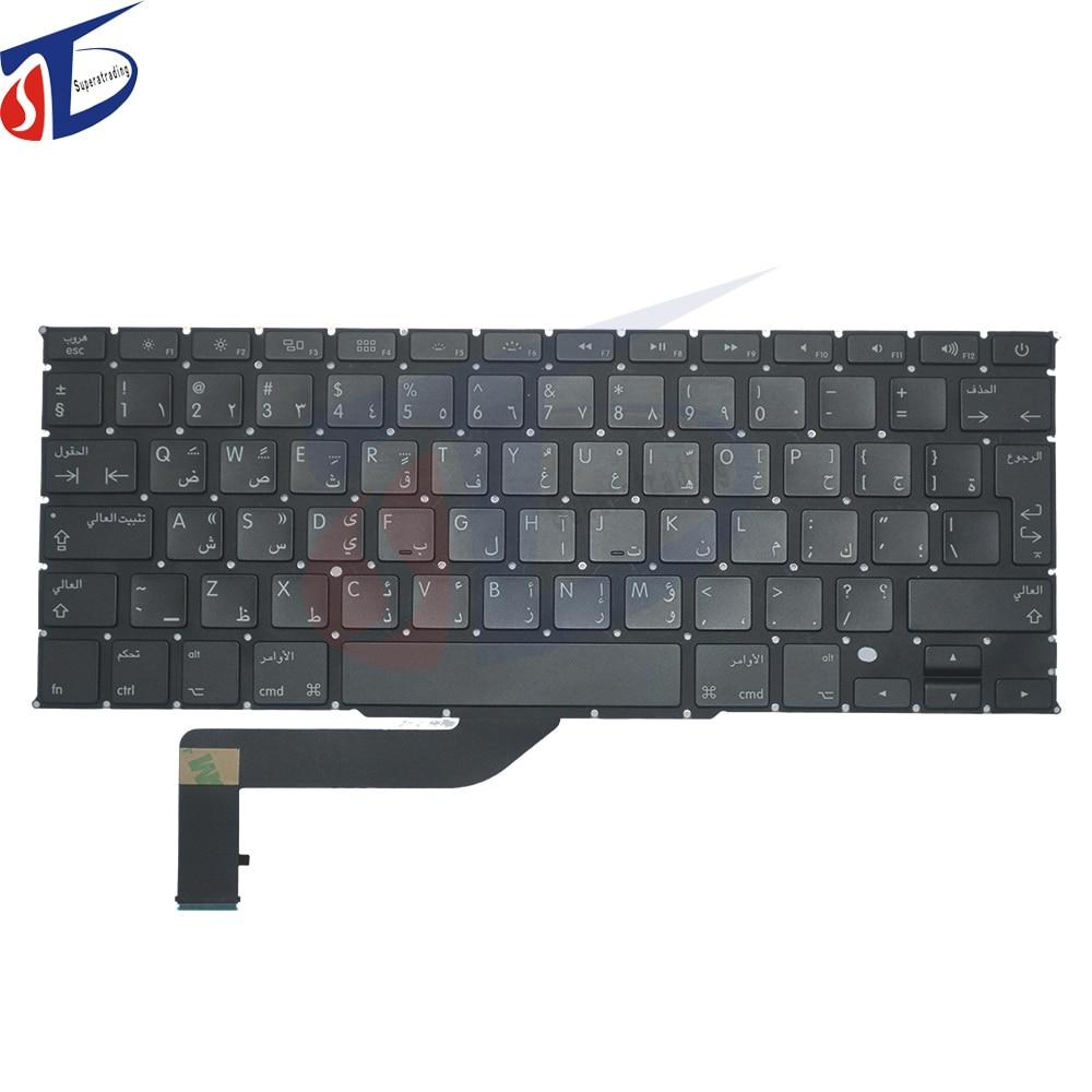 NEW original AR keyboard for font b macbook b font air 15 A1398 Arab Arabic keyboard