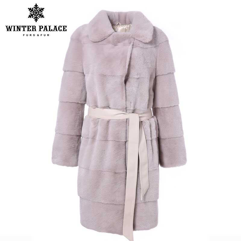 Fashion Winter new Long mink fur coat Short import mink fur coats women color real mink fur coat lapels genuine mink fur coat