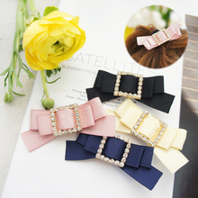 Korea Hair Accessories Flower Square Diamond Clips For Girls Crystal Accessoires Bows Hairpins Barrette 4
