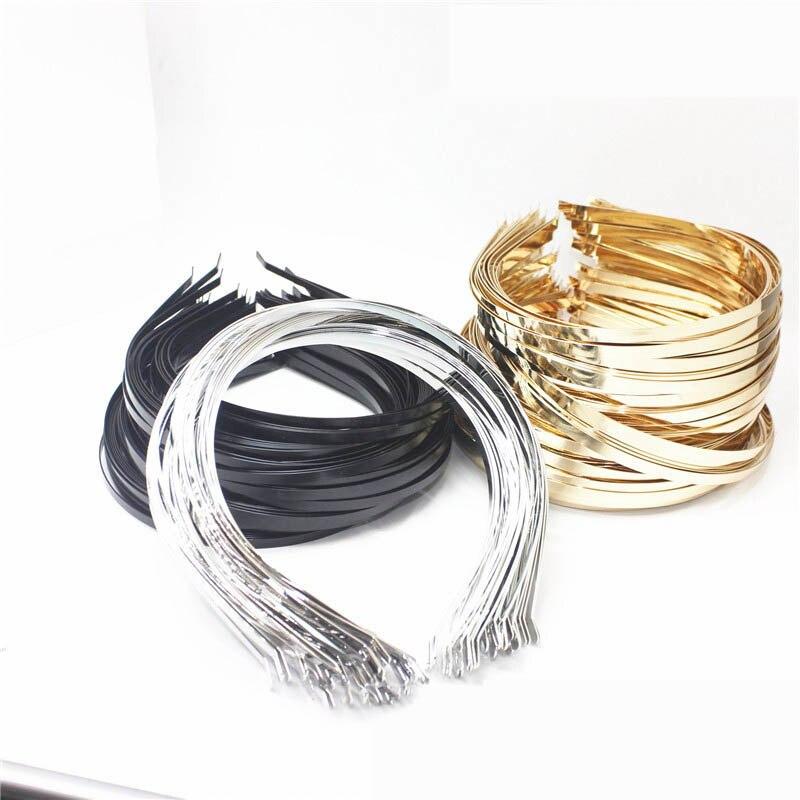 5 pces 3/5/6/7mm base de cabeça de aço inoxidável kc ouro prata espaços em branco ajuste para diy headwear jóias que faz acessórios
