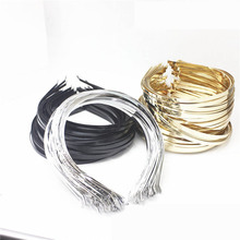 5pcs 3/5/6/7mm Stainless Steel Headband Base Kc gold Silver