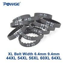 Ремень ГРМ POWGE XL, ремень синхронный 44/54/56/60/64, ширина 6,35 мм 025 9,4 мм 037 зубьев 22 27 28 30 32, 44XL 54XL 56XL 60XL 64XL