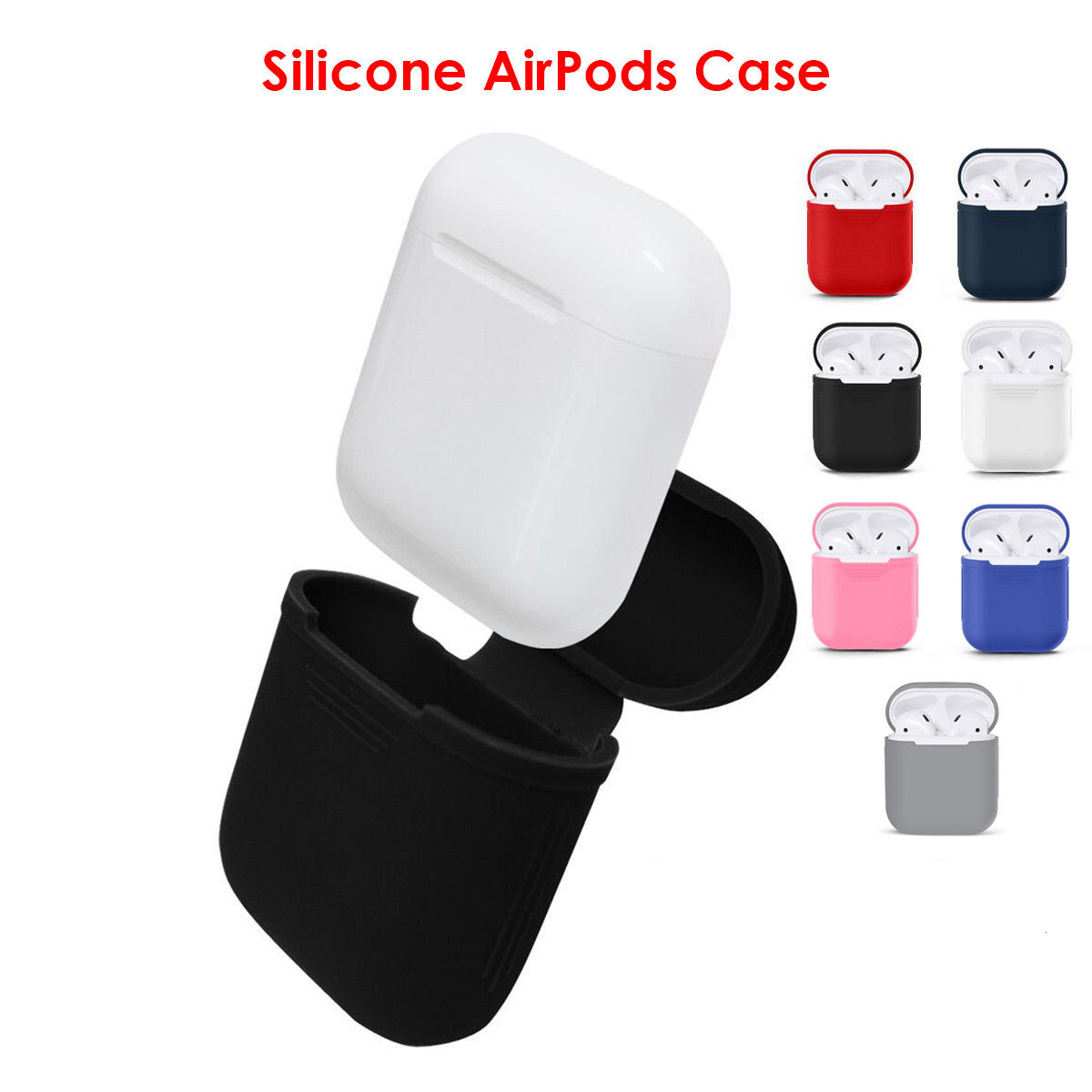 Bluetooth Wireless Case for Airpods dust guard headhone case airpods Accessories off white transparent case for airpods pouch-in Earphone Accessories from Consumer Electronics