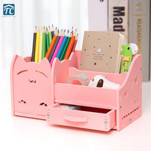Multi-function Pen Holder Creative Fashion Korea Student Cute Children Desktop Ornaments Storage Box Office Organizer Drawer(China)