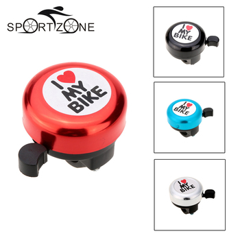 Bicycle Bell I Love My Bike Printed Clear Sound Cute Bike Horn Alarm Warning Bel