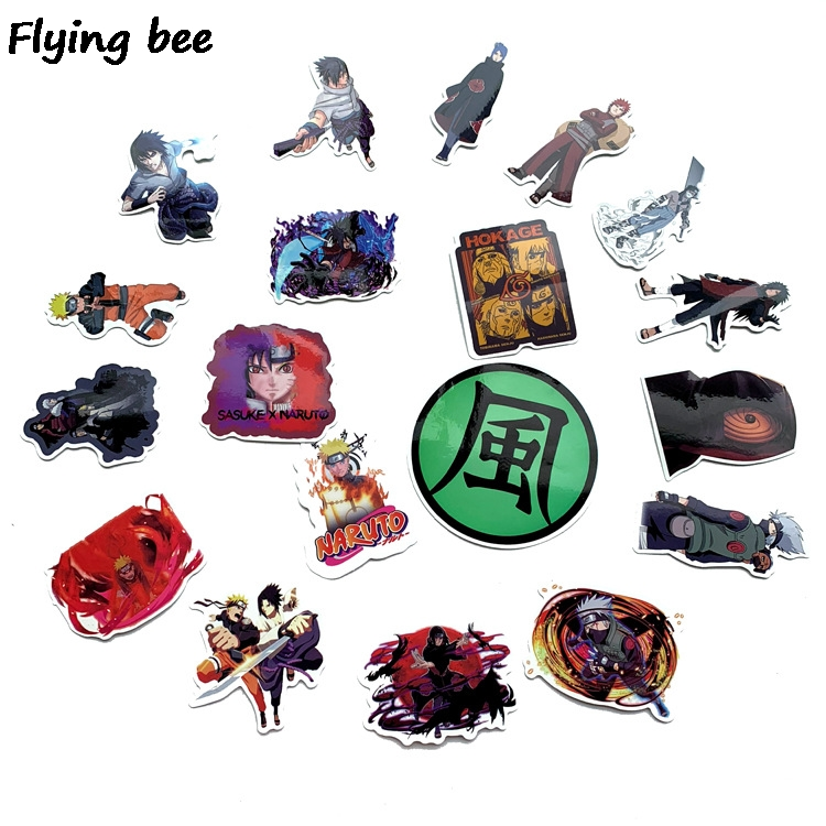 Image 3 - Flyingbee 70 Pcs Naruto Japanese anime Graffiti Stickers for Kids DIY Luggage Laptop Skateboard Car Waterproof Sticker X0214-in Stickers from Consumer Electronics