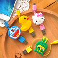 New Mini Cartoon USB Charge Data Cable For Samsung Nokia HTC Xiaomi Charge Data Wire Free Shipping