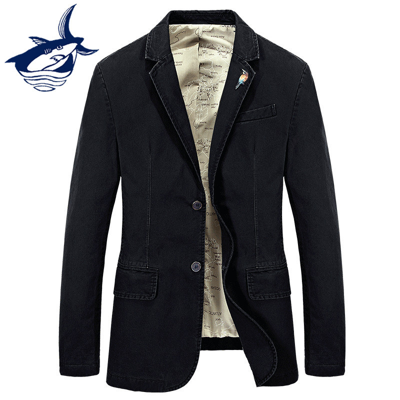 Casual Blaze Suit Men Brand Tace & Shark costume homme Business blaser masculino Men Denim Slim Fit Blaze Jacket Shark Clothing ...