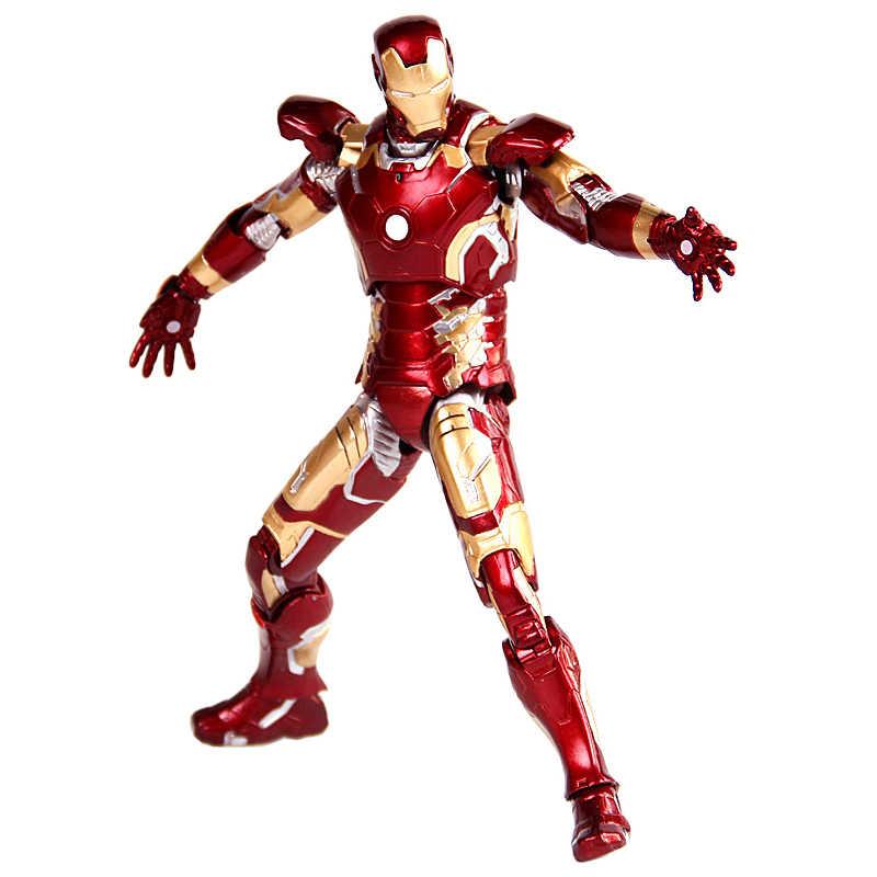 أعجوبة المنتقمون الحديد رجل عمل نموذج لجسم MK42 MK43 MK21 الرجل الحديدي جمع دمية PVC الشكل هدية عيد ميلاد لعبة للأطفال