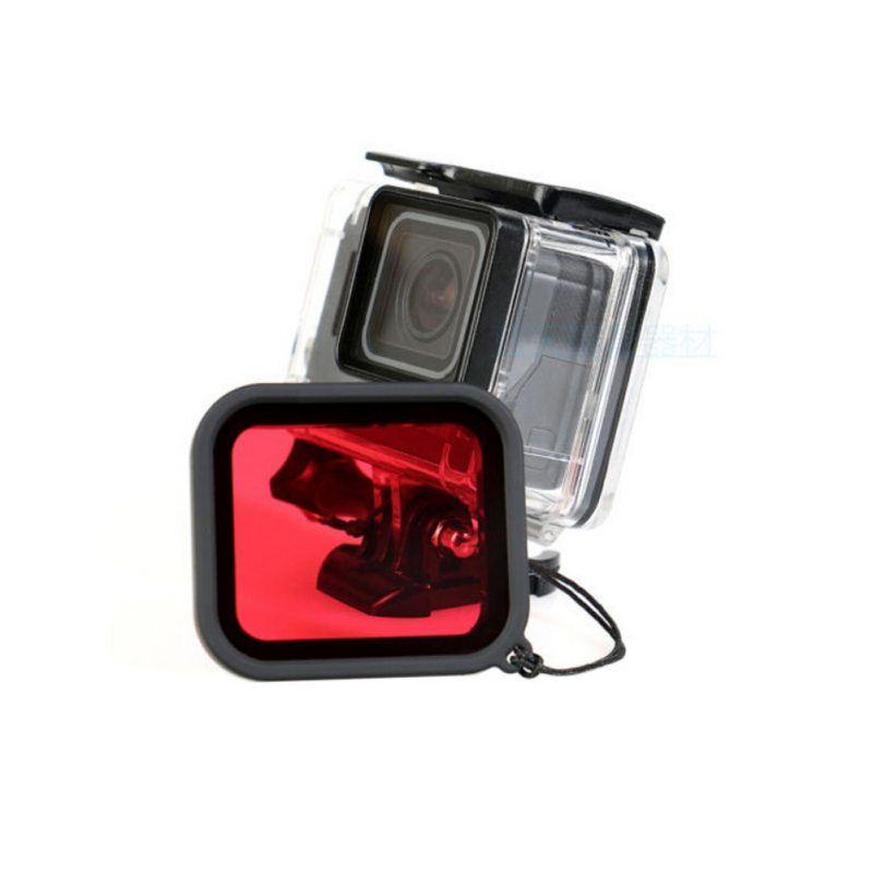 Diving Filter Red for Gopro Hero 5 Waterproof Protect Shell Camera Lens for Gopro Hero Camera Dustproof Lens Skirts