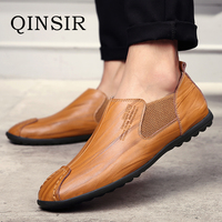 Mens Fashion Casual Shoes Slip On Breathable Men Flat Driving Moccasins High Quality Men Loafers Italian