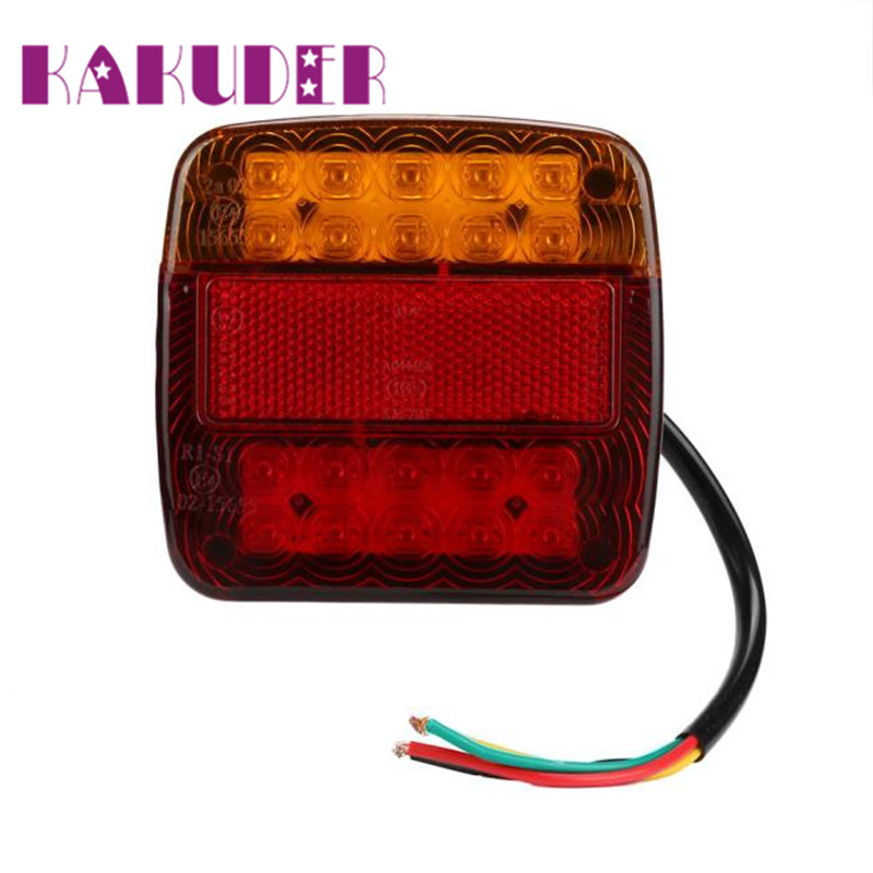 Brake Stop 2 Trailer Truck 26 LED Taillight  Turn Signal License Plate Light Lamp Ligero Luz quality new fashion beauty 17may24 universal flexible strip motorcycle light strip led amber tail brake stop turn signal light license plate lamp decoration