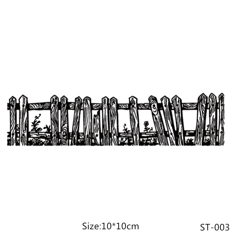 ZhuoAng Bamboo Fence Clear Stamps For DIY Scrapbooking Card Making Album Decorative Silicon Stamp Crafts in Stamps from Home Garden