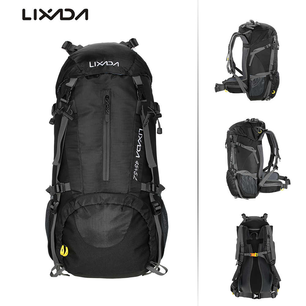 Lixada Internal Frame Backpack Hiking Backpack 50L Waterproof Durable Travel Sport Climbing Camping Daypack Bag