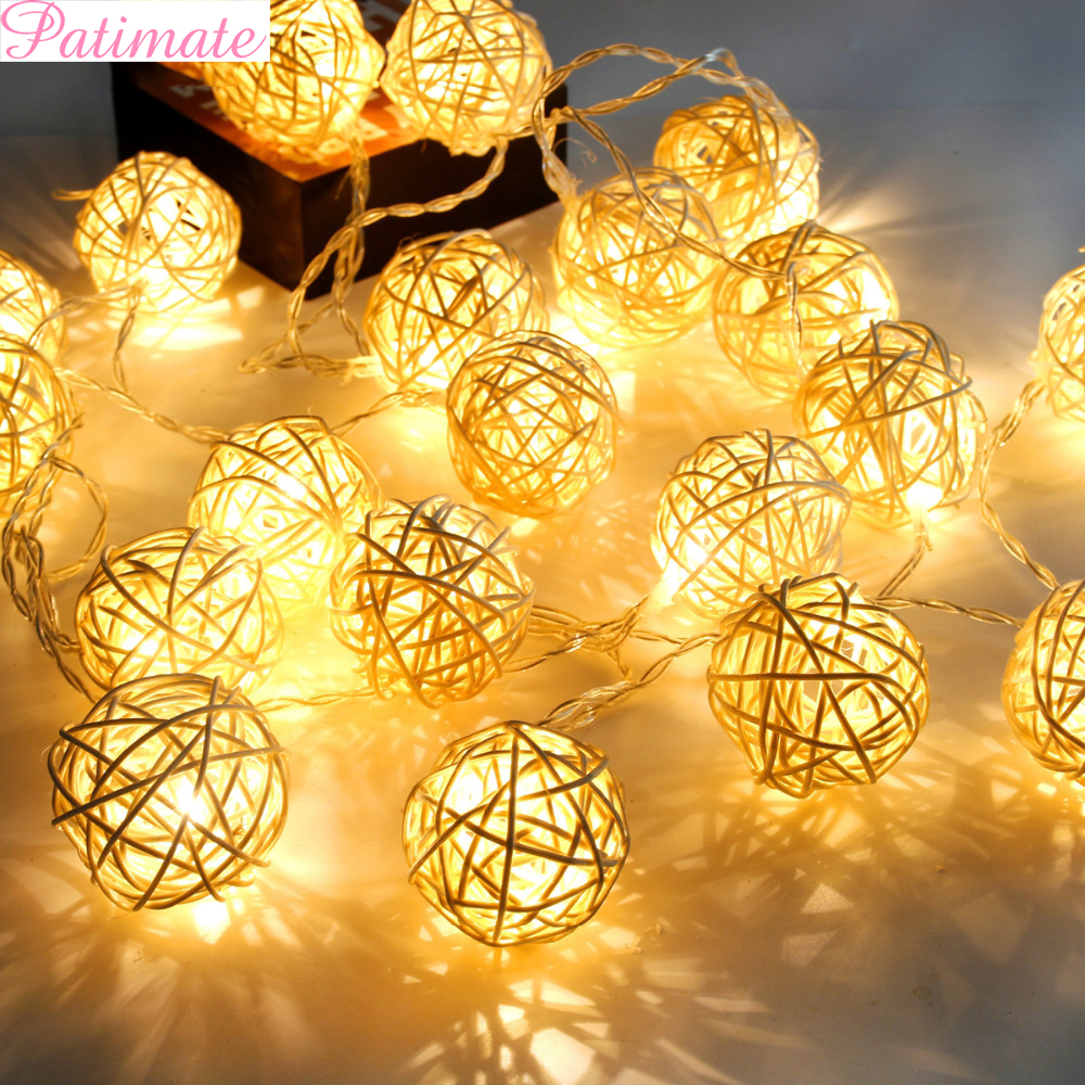 Patimate 2m 5m Led Light Wedding Decoration Party Christmas Tree Decoration 2019 Christmas Decorations For Home Happy New Year